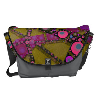 Funky Abstract Pattern Messenger Bags