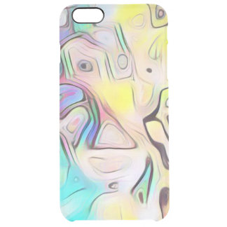 Funky abstract psychedelic clear iPhone 6 plus case