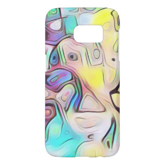 Funky abstract psychedelic samsung galaxy s7 case
