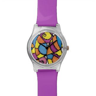 Funky Abstract Purple Watches