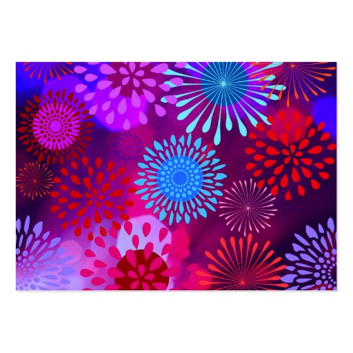 Funky Abstract Sparkle Shine Flower Petals Business Card