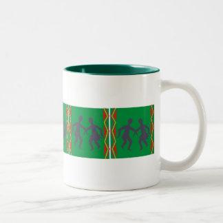 Funky african dancers mug