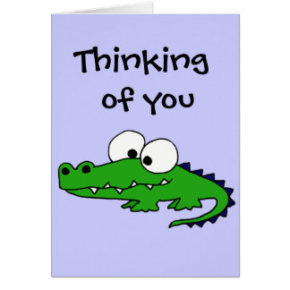 Funky Alligator Card