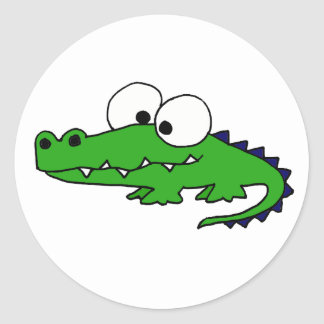 Funky Alligator Classic Round Sticker