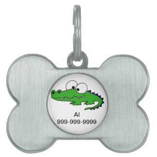 Funky Alligator Pet ID Tag