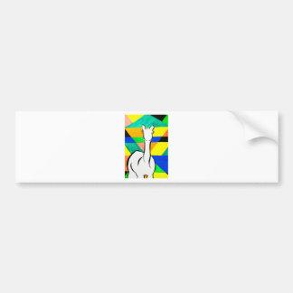 Funky Alpaca Bumper Sticker