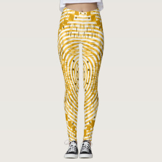 Funky and golden leggings