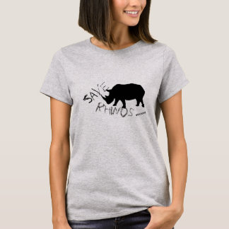 Funky and Stylish Save Rhinos T-Shirt Top