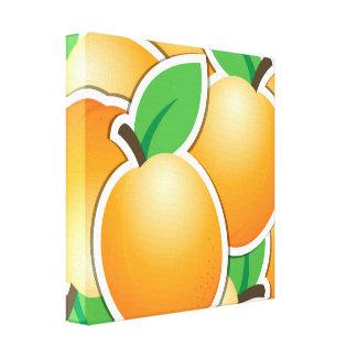 Funky apricot canvas print