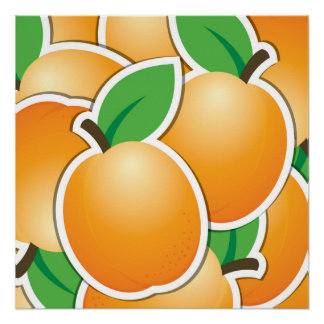 Funky apricot perfect poster