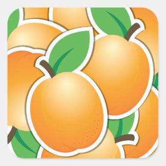 Funky apricot square sticker