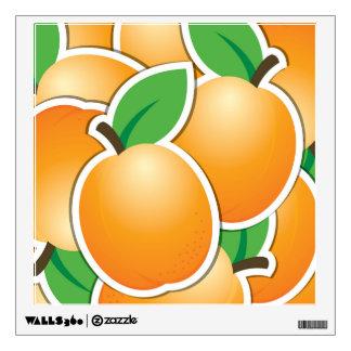 Funky apricot wall sticker