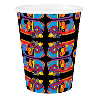 funky art deco paper cup