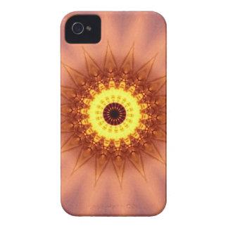 Funky Artistic Chic Peach Yellow Mandala iPhone 4 Covers