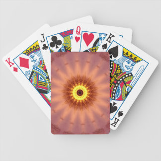 Funky Artistic Chic Peach Yellow Mandala Poker Deck