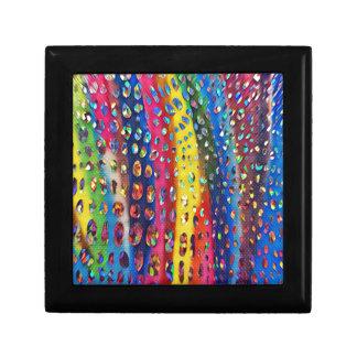 Funky Artistic LGBTQ Rainbow Snake Skin Pattern Keepsake Box