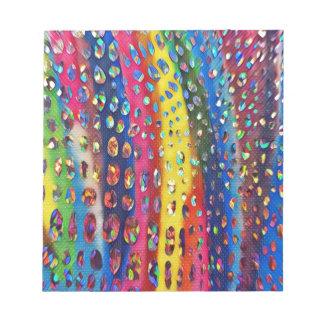 Funky Artistic LGBTQ Rainbow Snake Skin Pattern Notepad