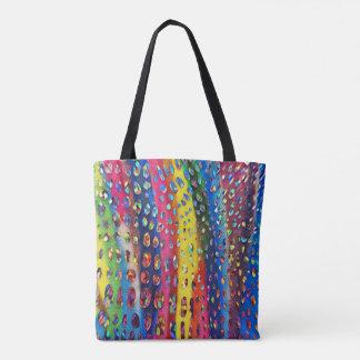 Funky Artistic LGBTQ Rainbow Snake Skin Pattern Tote Bag