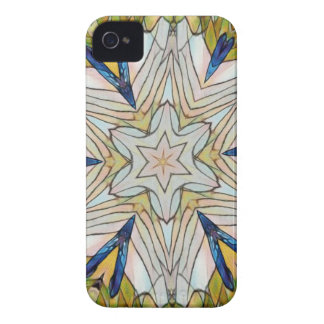 Funky Artistic Star in Daisy Shaped Abstract iPhone 4 Cases