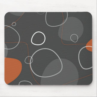Funky Atomic Age abstract mouse pad