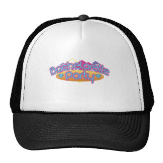 funky bachelorette wedding bridal shower party trucker hat
