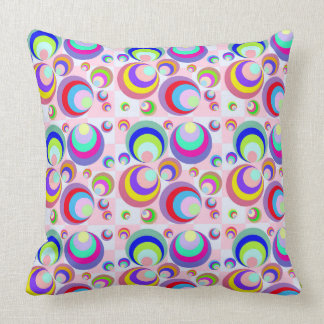 Funky  background 60s throw pillow