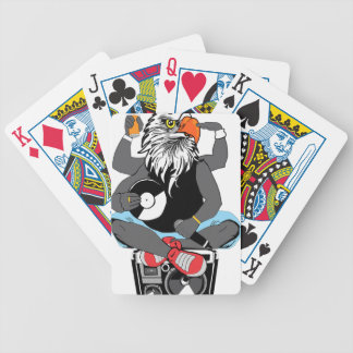 Funky Bald Eagle Bicycle Playing Cards