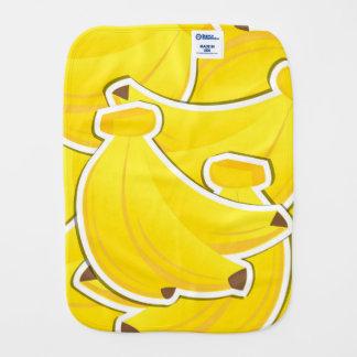 Funky banana baby burp cloth