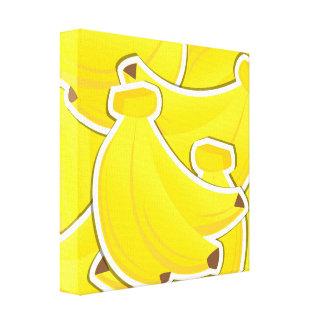 Funky bananas canvas print