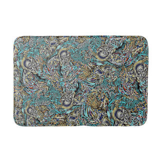 Funky bath mat multi-colored modern design