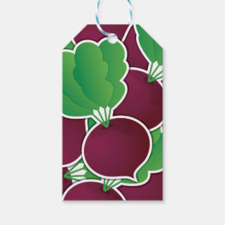 Funky beet pack of gift tags
