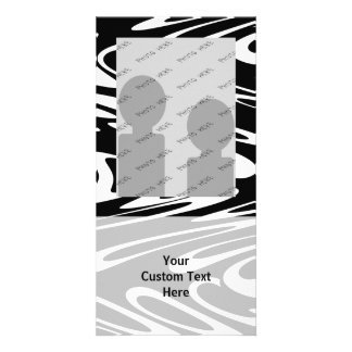 Funky Black and White Pattern. Photo Card Template