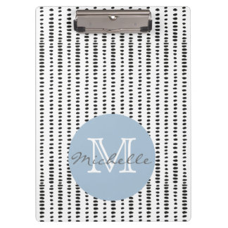 Funky, Black & White Abstract Pattern Clipboard