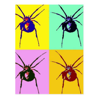 Funky Black widow Post Cards