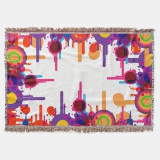 Funky Blob Pattern Blankets