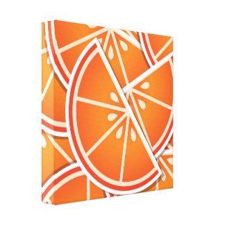 Funky blood orange wedges canvas print