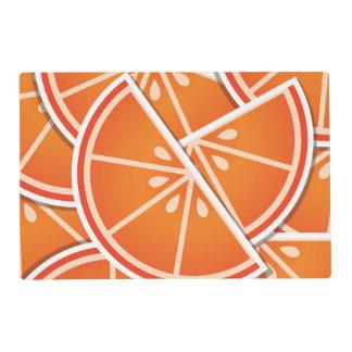 Funky blood orange wedges laminated placemat