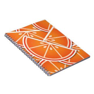 Funky blood orange wedges note books