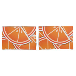 Funky blood orange wedges pillowcase