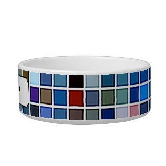 Funky Blue 'Bathroom Tiles' Pattern Bowl