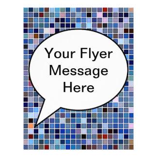 Funky Blue Bathroom Tiles Pattern Custom Flyer