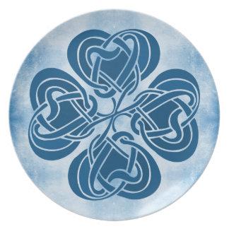 Funky Blue Celtic Knot Plate
