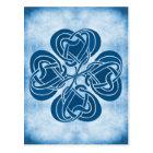 Funky Blue Celtic Knot Postcard