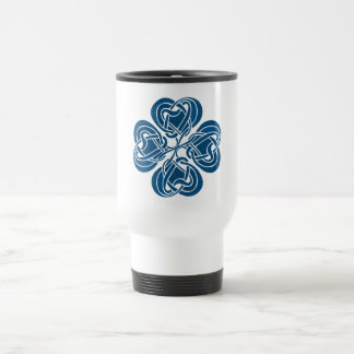 Funky Blue Celtic Knot Travel Mug