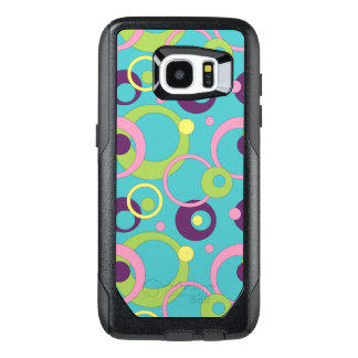 Funky Blue Circles Otterbox Phone Case