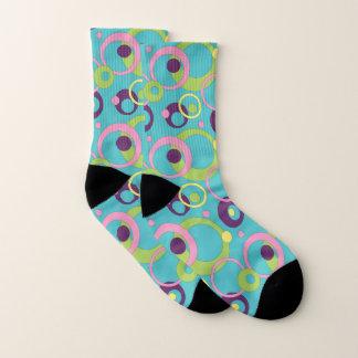 Funky Blue Circles Socks 1