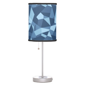 Funky blue crazy patchwork pattern table lamp