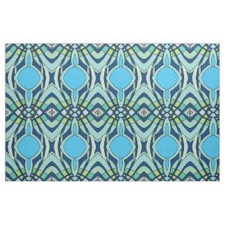 Funky Blue Pattern Fabric