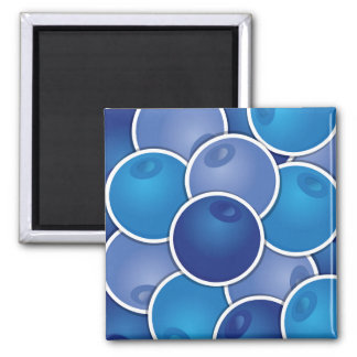 Funky blueberry magnet