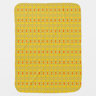 funky bold on mustard baby blanket